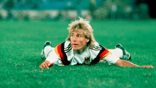 Jurgen Klinsmann West Germany 1990 World Cup