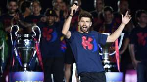 Gerard Pique Barcelona celebrations