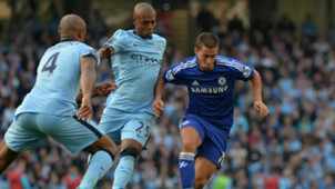 Eden Hazard Vicent Kompany Manchester City Chelsea 21092014