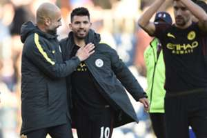 Pep Guardiola Sergio Aguero embed only