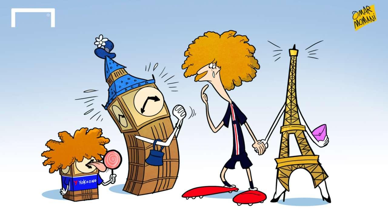 CARTOON David Luiz & Big Ben