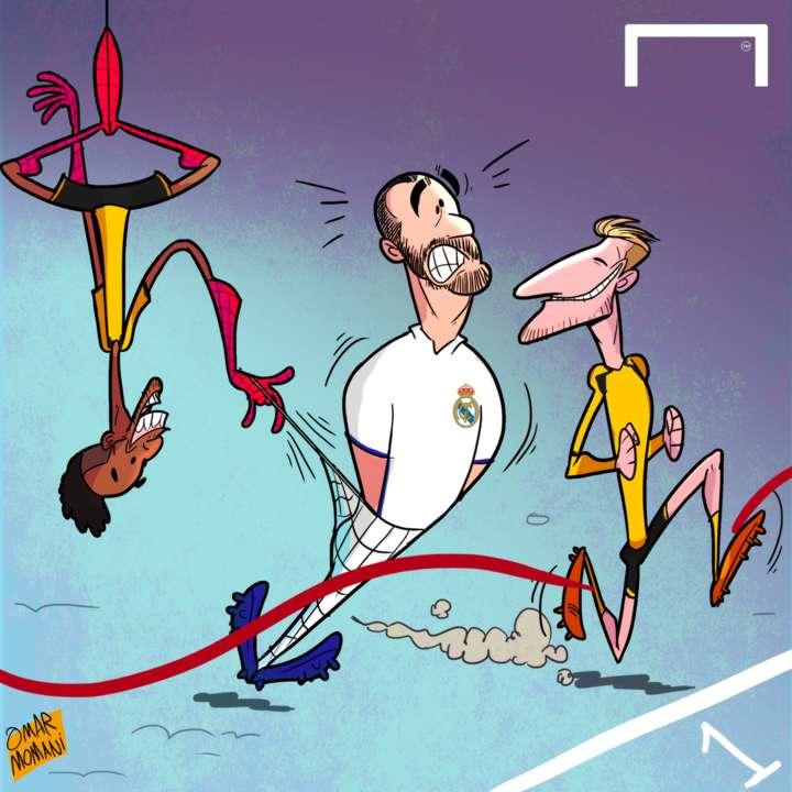 Auba and Reus cartoon