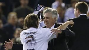 Carlo Ancelotti Luka Modric Real Madrid Copa del Rey
