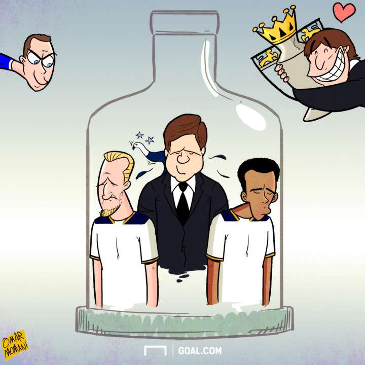 Cartoon Tottenham bottle job