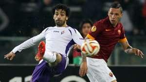 Mohamed Salah Jose Holebas Fiorentina Roma