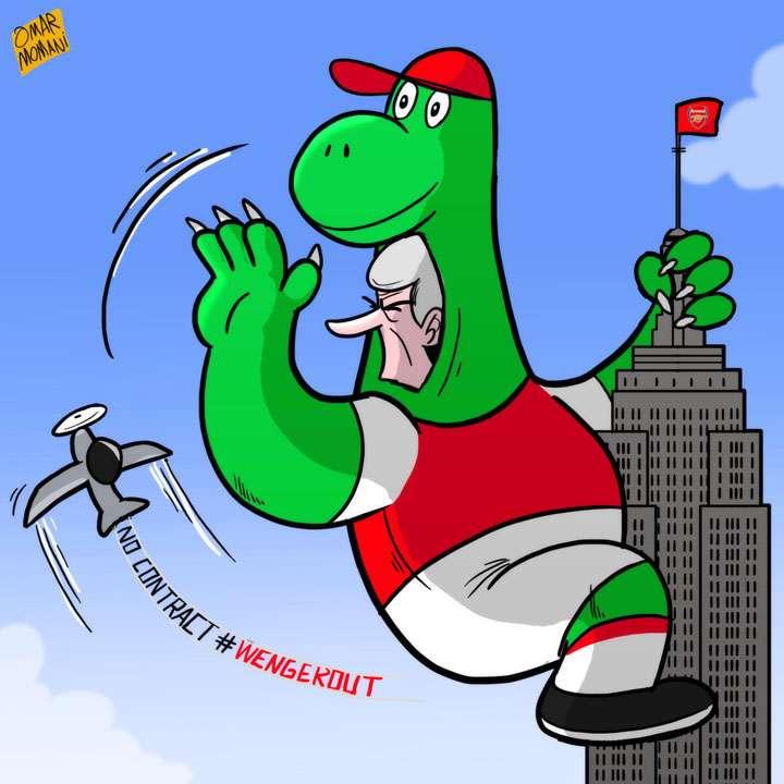 Arsene Wenger dinosaur cartoon