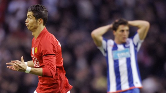 Cristiano Ronaldo Manchester United Porto Champions League 2009