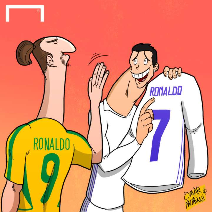 CARTOON Ibra & Ronaldo