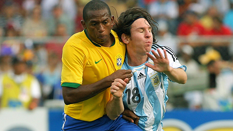Lionel Messi Argentina Mineiro Brazil Copa America 15072007