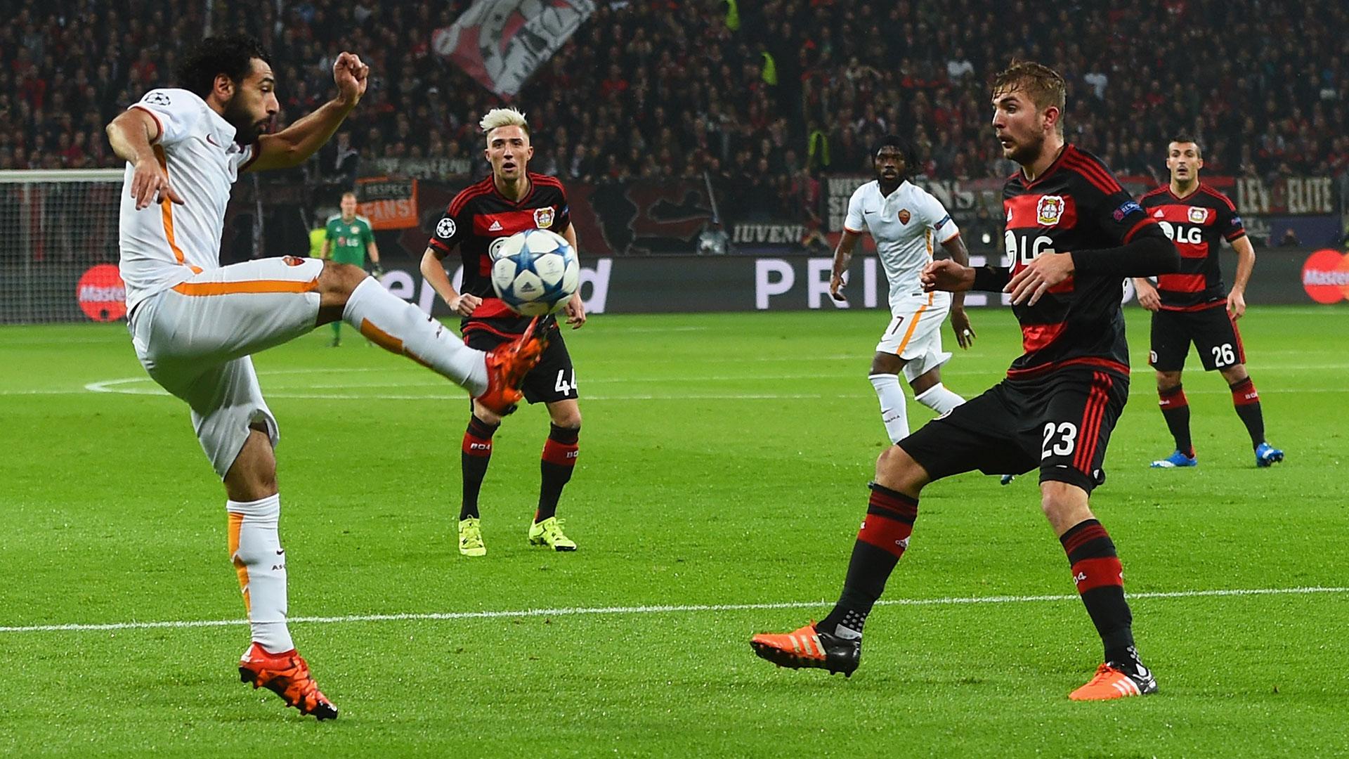 Mohamed Salah Roma Bayer Leverkusen Champions League
