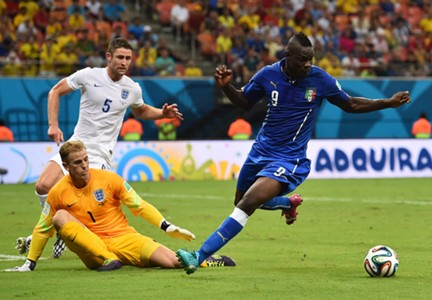 Mario Balotelli Italy England 2014 World Cup Group D 14062014