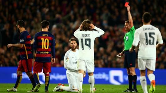 Sergio Ramos Real Madrid Barcelona red card 02042016