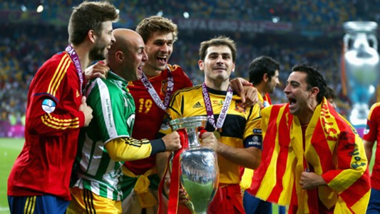 Spain players win Euro 2012