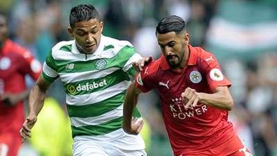 Emilio Izaguirre, Riyad Mahrez, Celtic vs Leicester