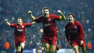 Steven Gerrard Liverpool Olympiakos