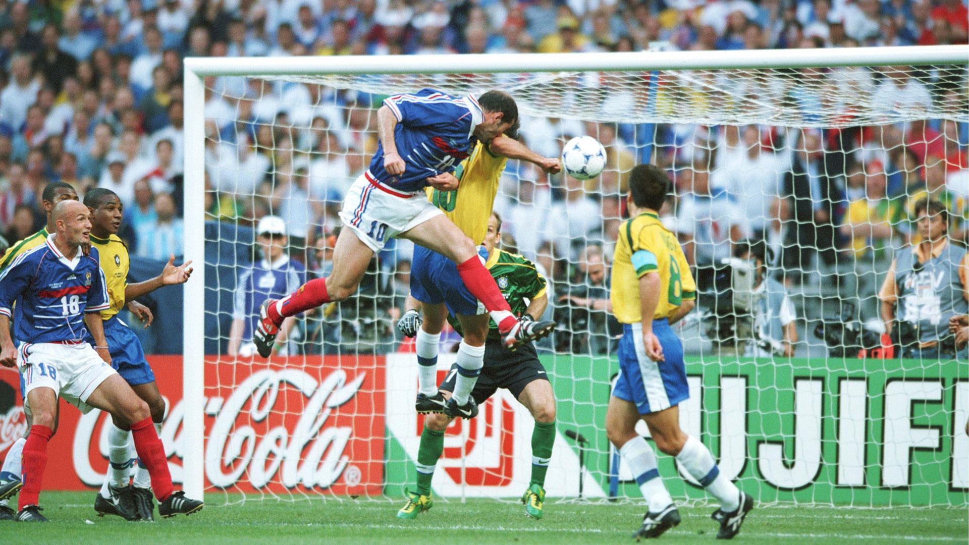 Image result for zidane vs brazil 1998