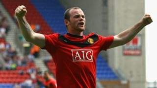 Wayne Rooney Manchester United Wigan 2009 - 100th Man Utd goal