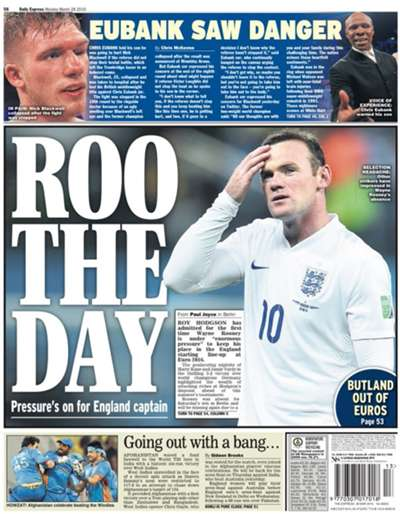 Daily Express backpage 28032016