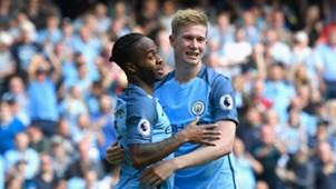 Raheem Sterling & Kevin De Bruyne Premier League Man City v Bournemouth 170916