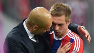 Guardiola Lahm Bayern Munich Barcelona Champions League 12052015