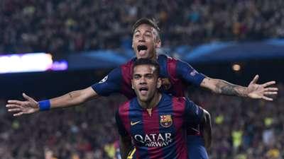 Neymar Dani Alves Barcelona Paris Saint Germain Champions League 21042015