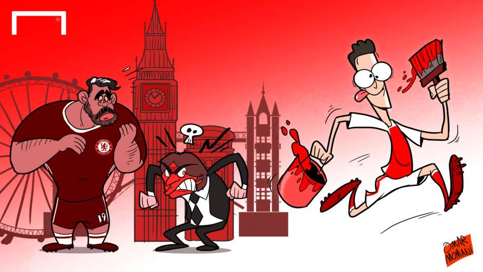 CARTOON Ozil paints the town red