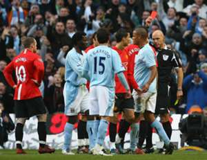 Ronaldo red card Manchester United Manchester City 2008