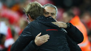 Jose Mourinho and Jurgen Klopp Premier League Liverpool v Manchester United 171016