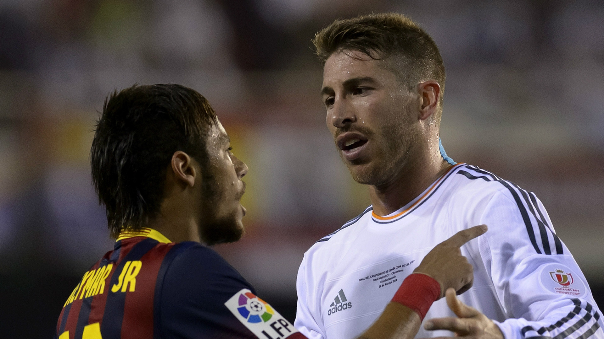 Neymar Sergio Ramos Barcelona Real Madrid 16042014