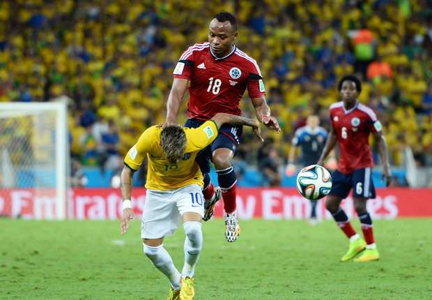 Neymar Camilo Zuniga Brazil Colombia World Cup