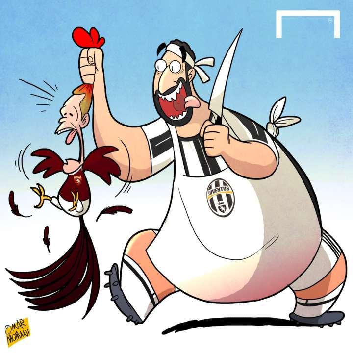 Cartoon Higuain Belotti