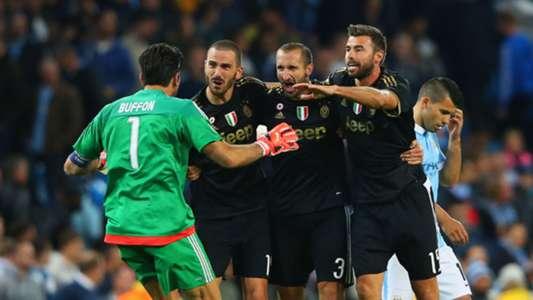 Buffon Bonucci Chiellini Barzagli Juventus Manchester City