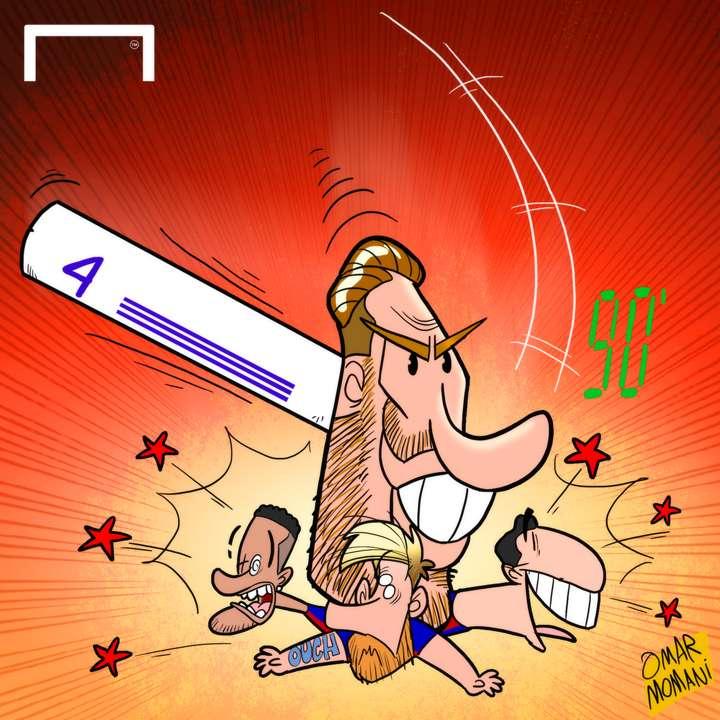 Sergio Ramos' big head