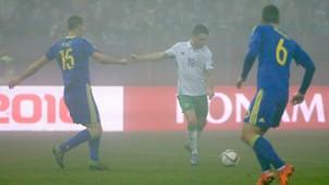 Robbie Brady Euro 2016 qualifying Bosnia v Ireland
