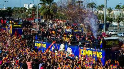 Barcelona La Liga victory parade