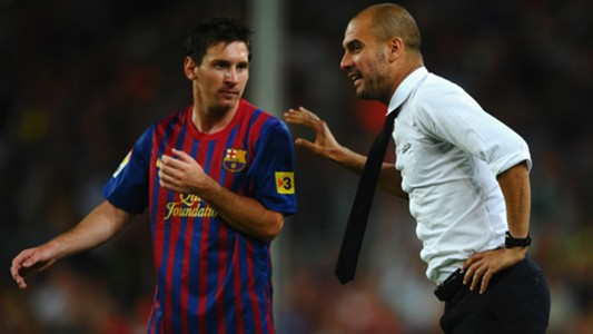 Pep Guardiola Lionel Messi