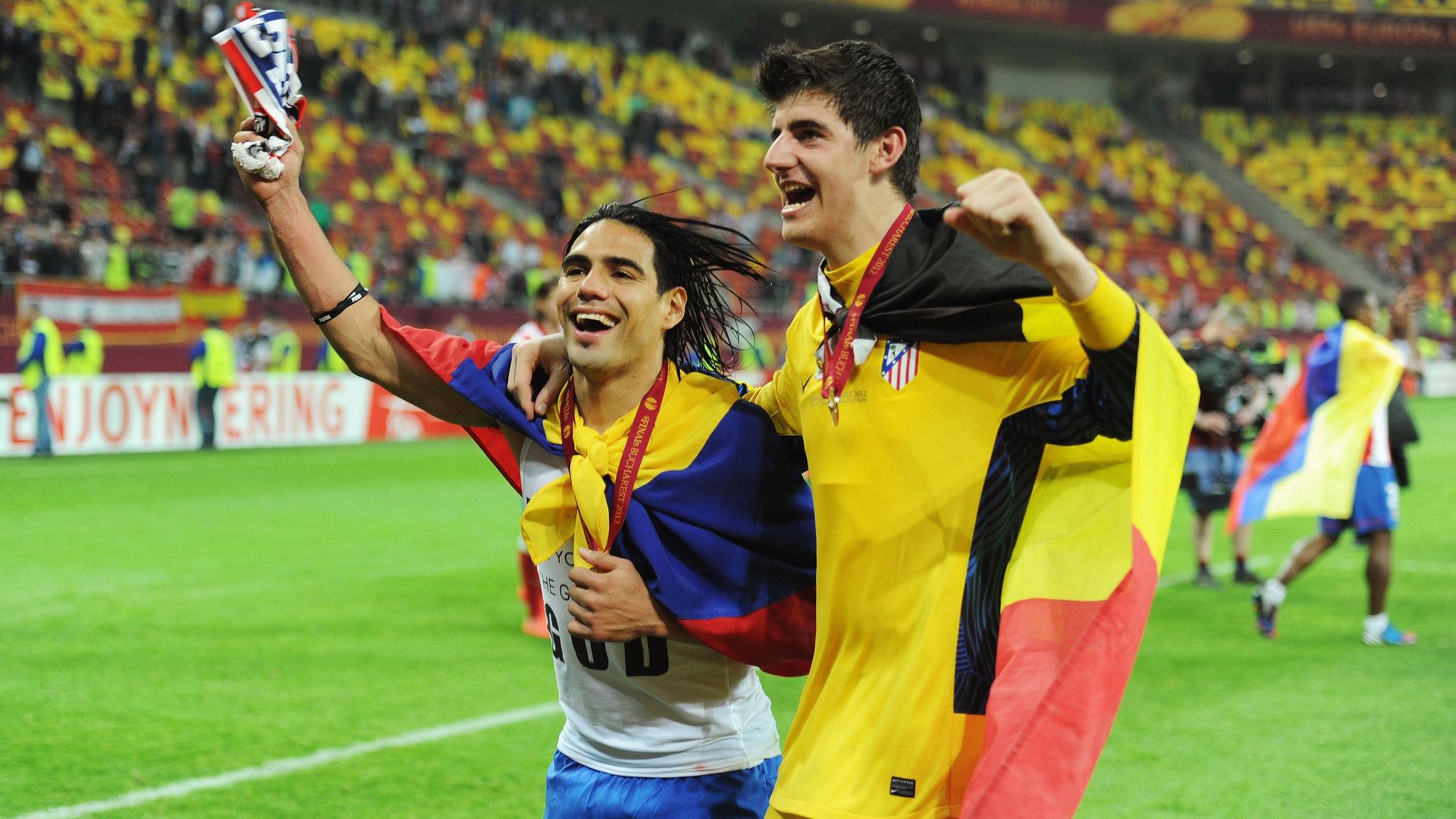 Radamel Falcao Thibaut Courtois Atletico Madrid