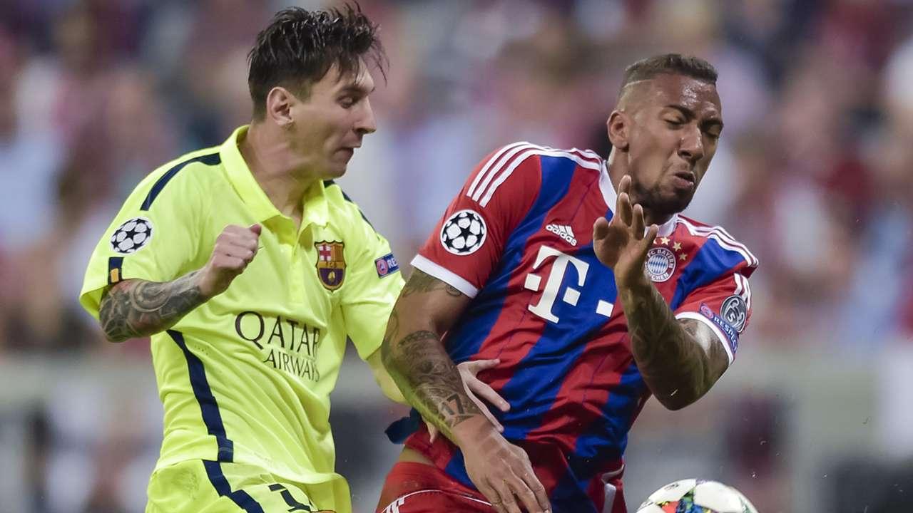 Messi Boeteng Yellow Bayern Munich Barcelona Champions League 12052015