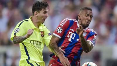 Messi Boeteng Yellow Bayern Munich Barcelona Champions League 12052015