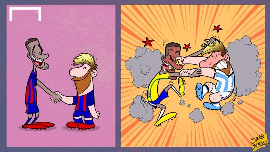 Messi Neymar Cartoon