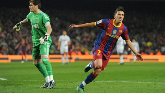 David Villa Barcelona Real Madrid