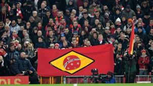 Liverpool fans' Chapecoense tribute 29112016