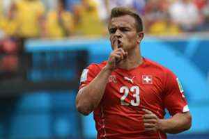 Xherdan Shaqiri Honduras Switzerland 2014 World Cup Group E 25062014