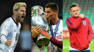 Lionel Messi Cristiano Ronaldo Wayne Rooney montage