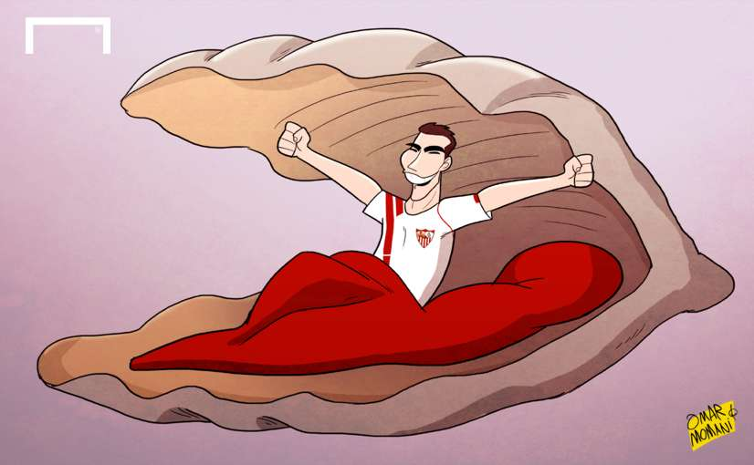 Jose Antonio Reyes Europa League cartoon