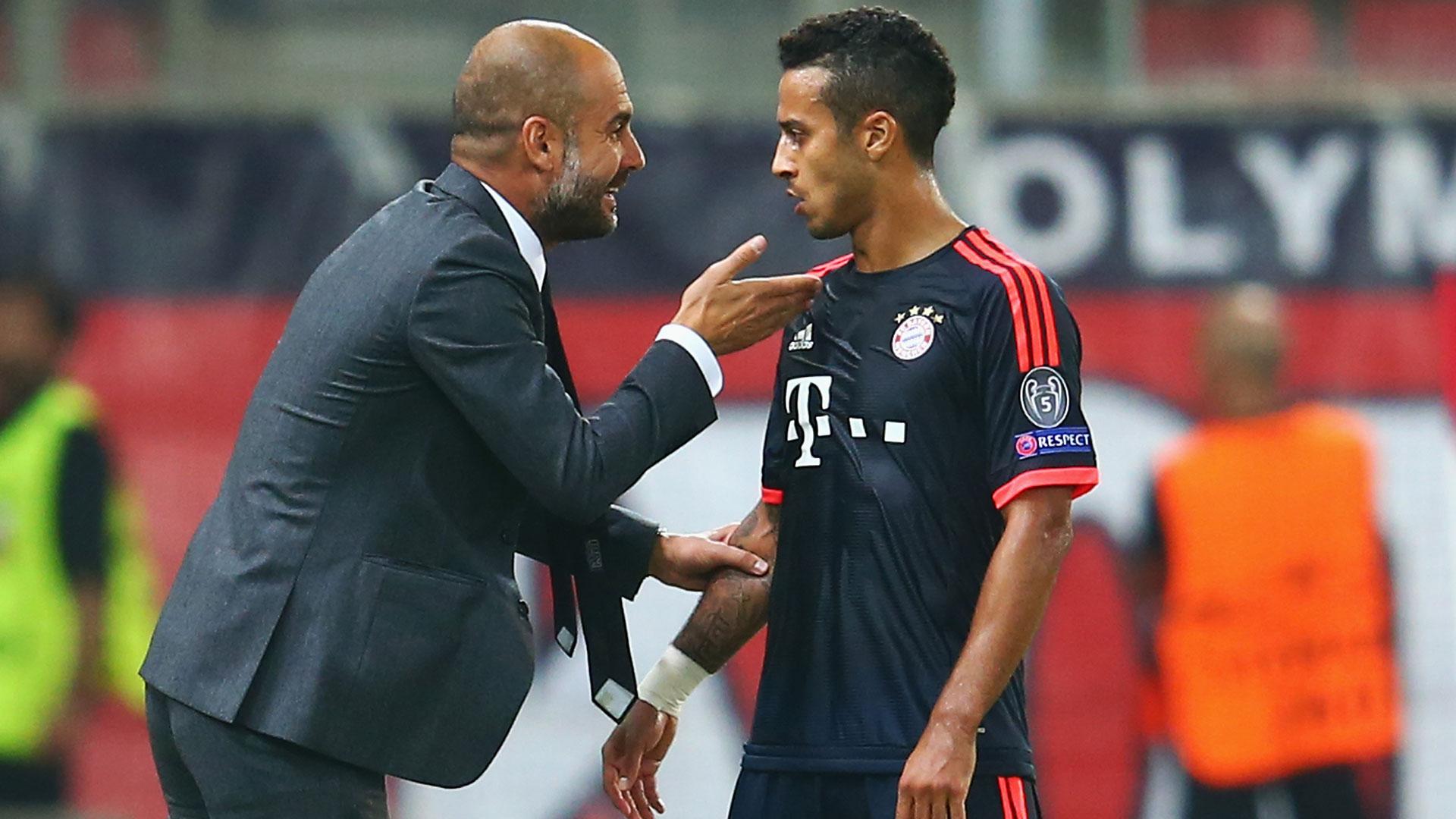 Thiago Alcantara Pep Guardiola Bayern Munich