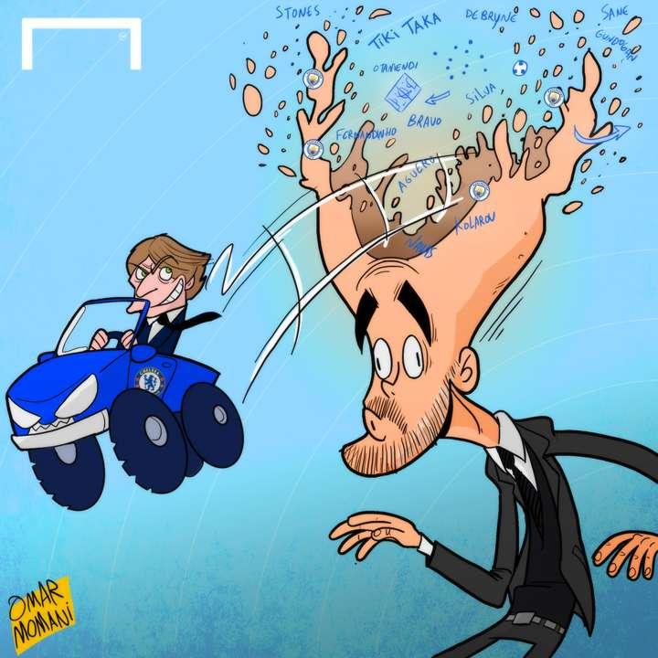 CARTOON Conte beats Pep's tactics