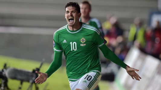 Kyle Lafferty Northern Ireland Hungary