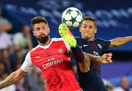 Olivier Giroud Marquinhos Arsenal PSG