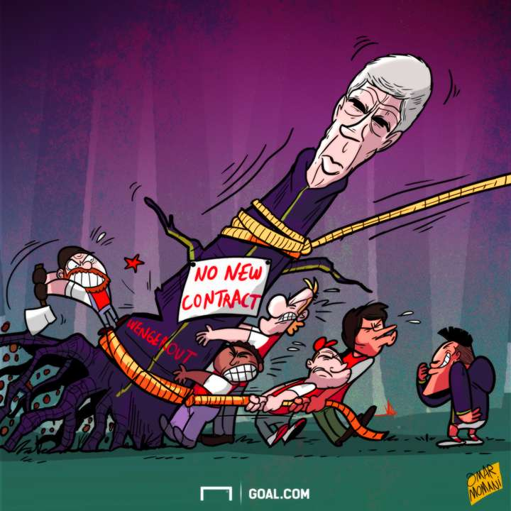 CARTOON Wenger uprooted